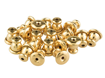 Gold Plated Clutch Ear Backs,      Pack of 20