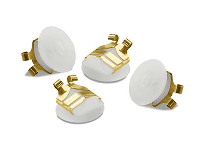 Gold Tone Lox Secure Earring Backs Pack of 4