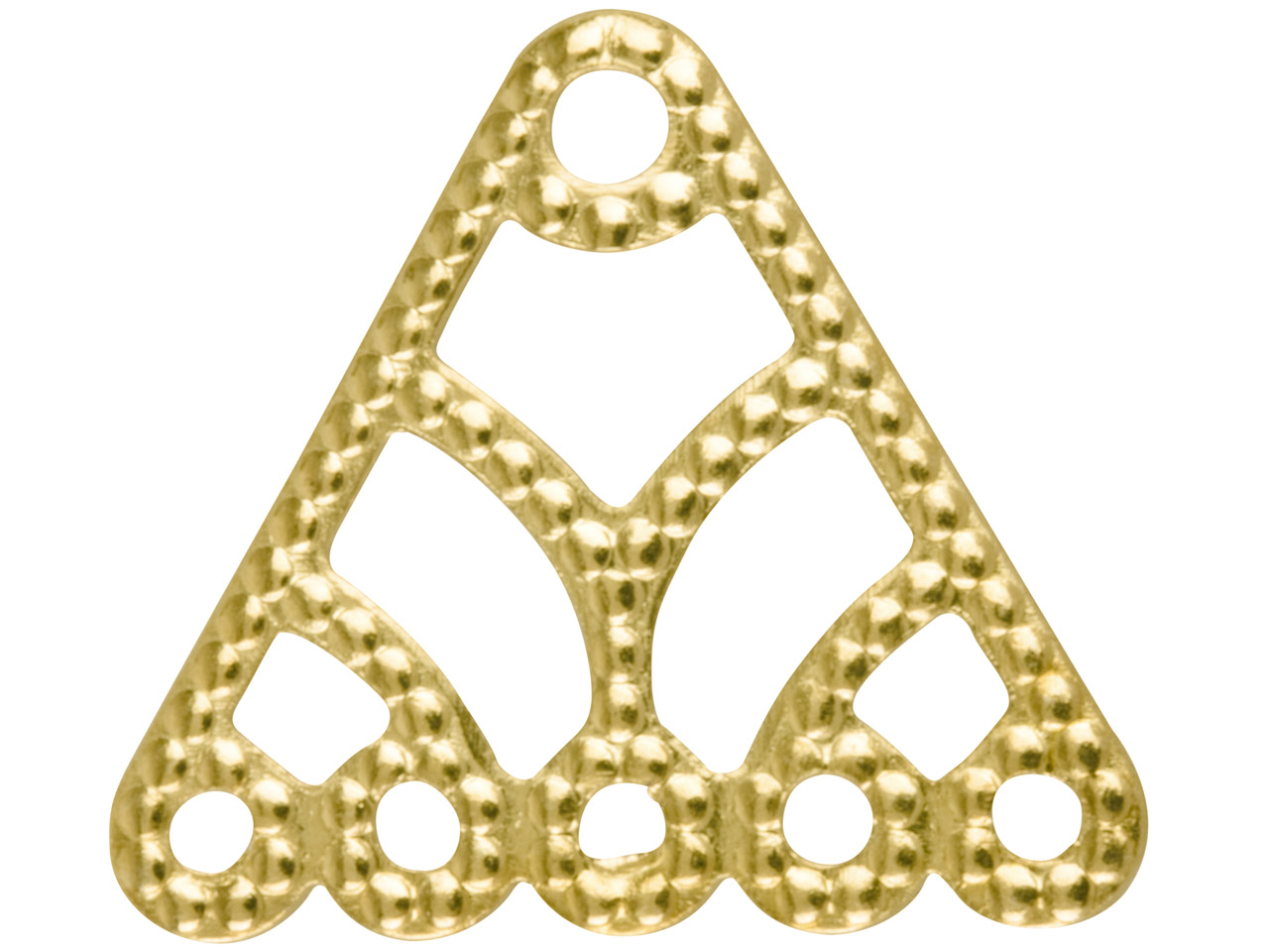 Gold Plated 5 Hole Triangle Dropper Pack of 10