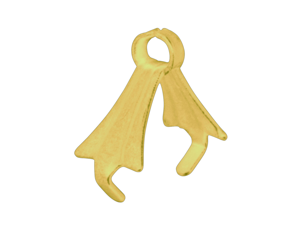 Gold Plated Fitting With Ring      Large, Pack of 10
