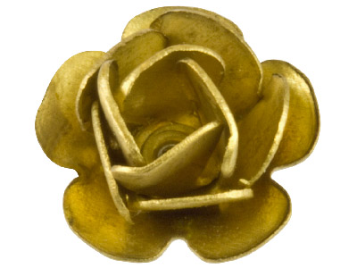 Pack of 10 Medium Rose Fitting Unplated Brass