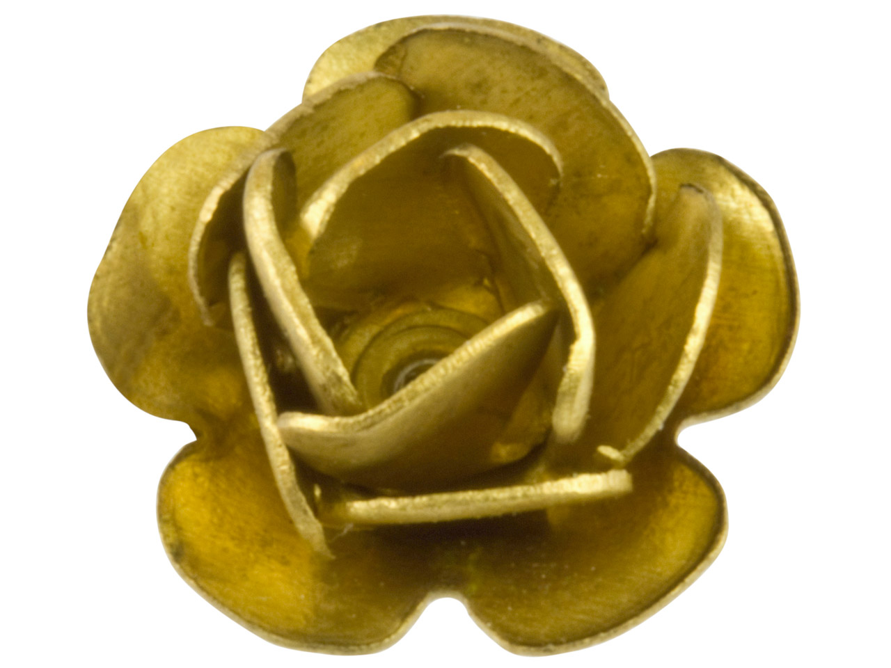 Brass Rose Fitting Pack of 10      Medium Unplated