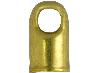 Brass Chain End Caps 3.2mm Unplated Pack of 20