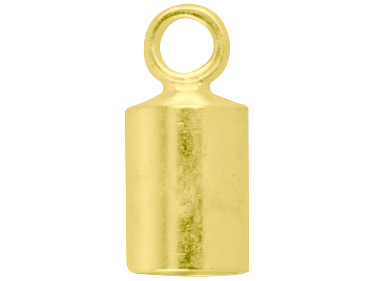 Gold Plated Chain End Caps 3.5mm   Pack of 10