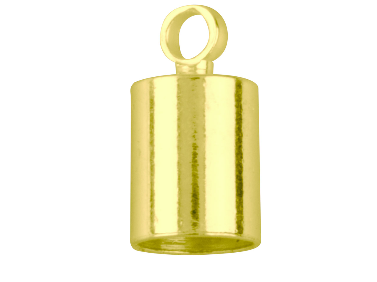 Gold Plated Chain End Caps 5mm     Pack of 10