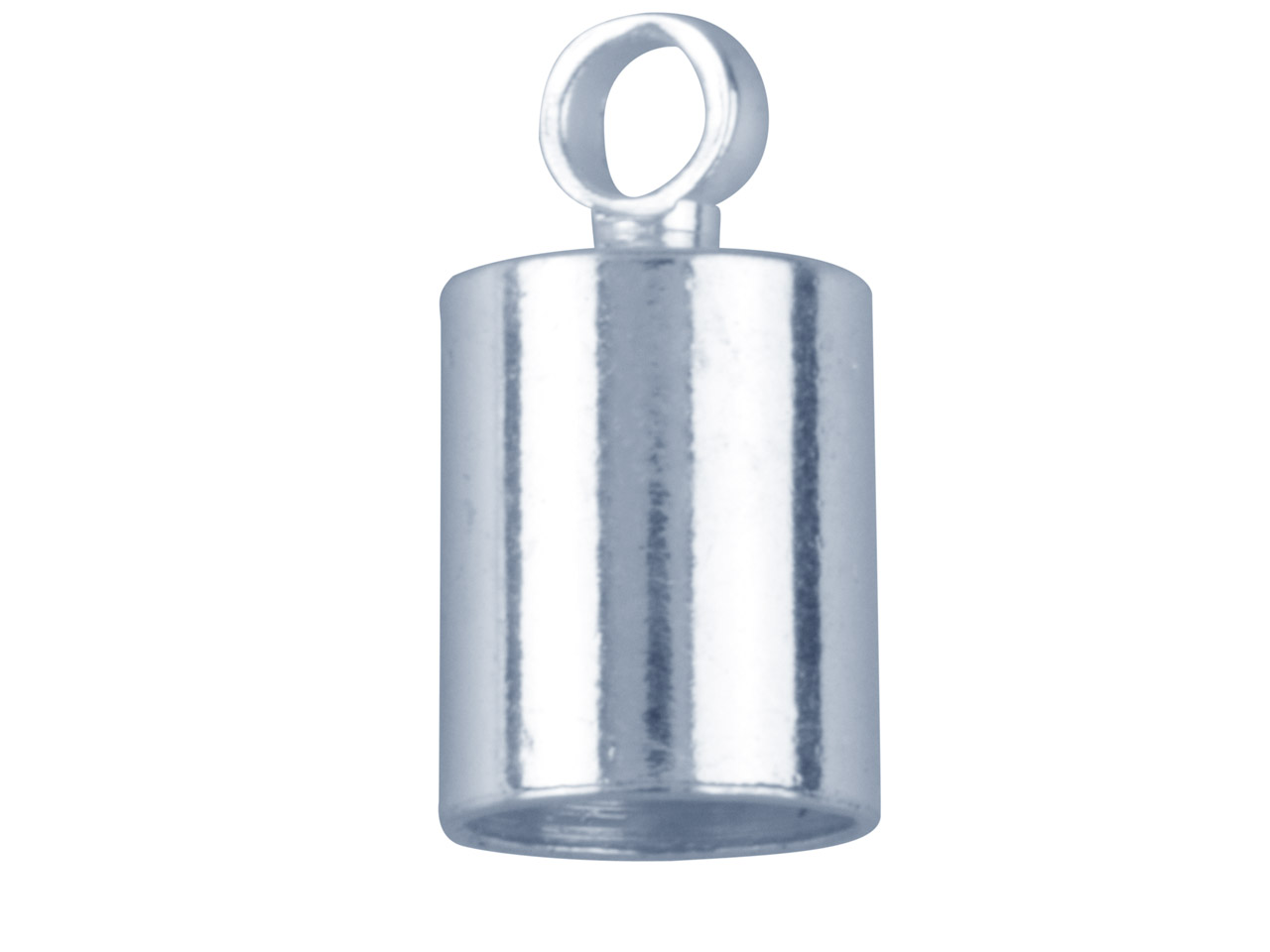 Silver Plated Chain End Caps 5mm   Pack of 10