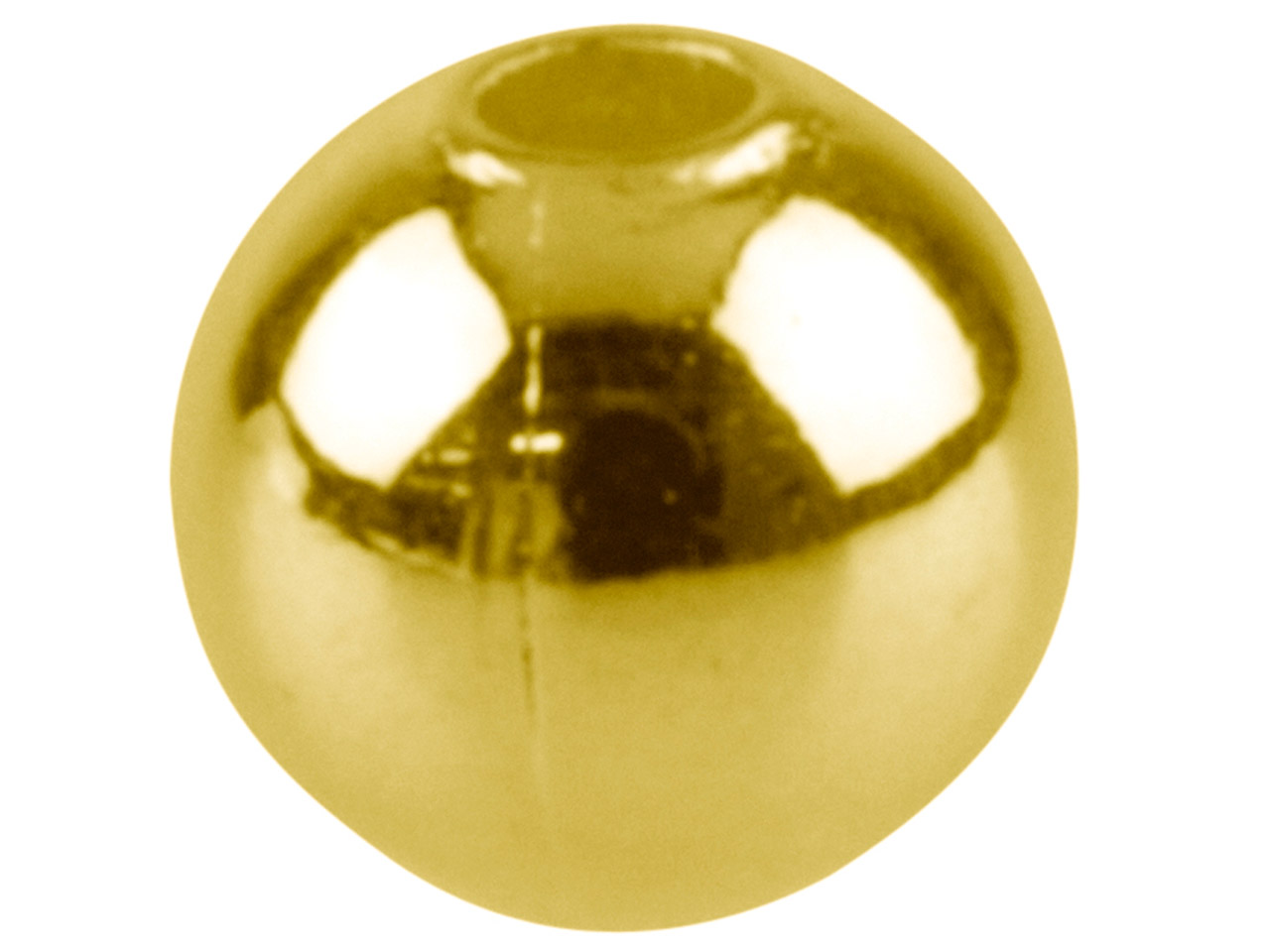 Gold Plated Plain Round Beads 3.0mm 2 Hole Pack of 50