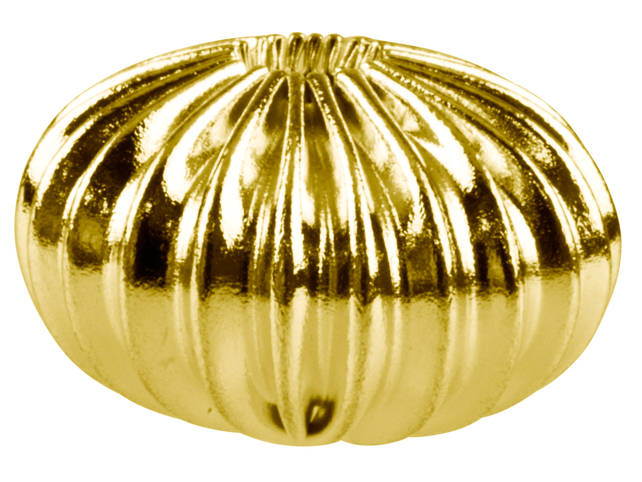 Gold Plated Corrugated Oval Beads  14mm, 2 Hole, 14mm X 9mm,          Pack of 10