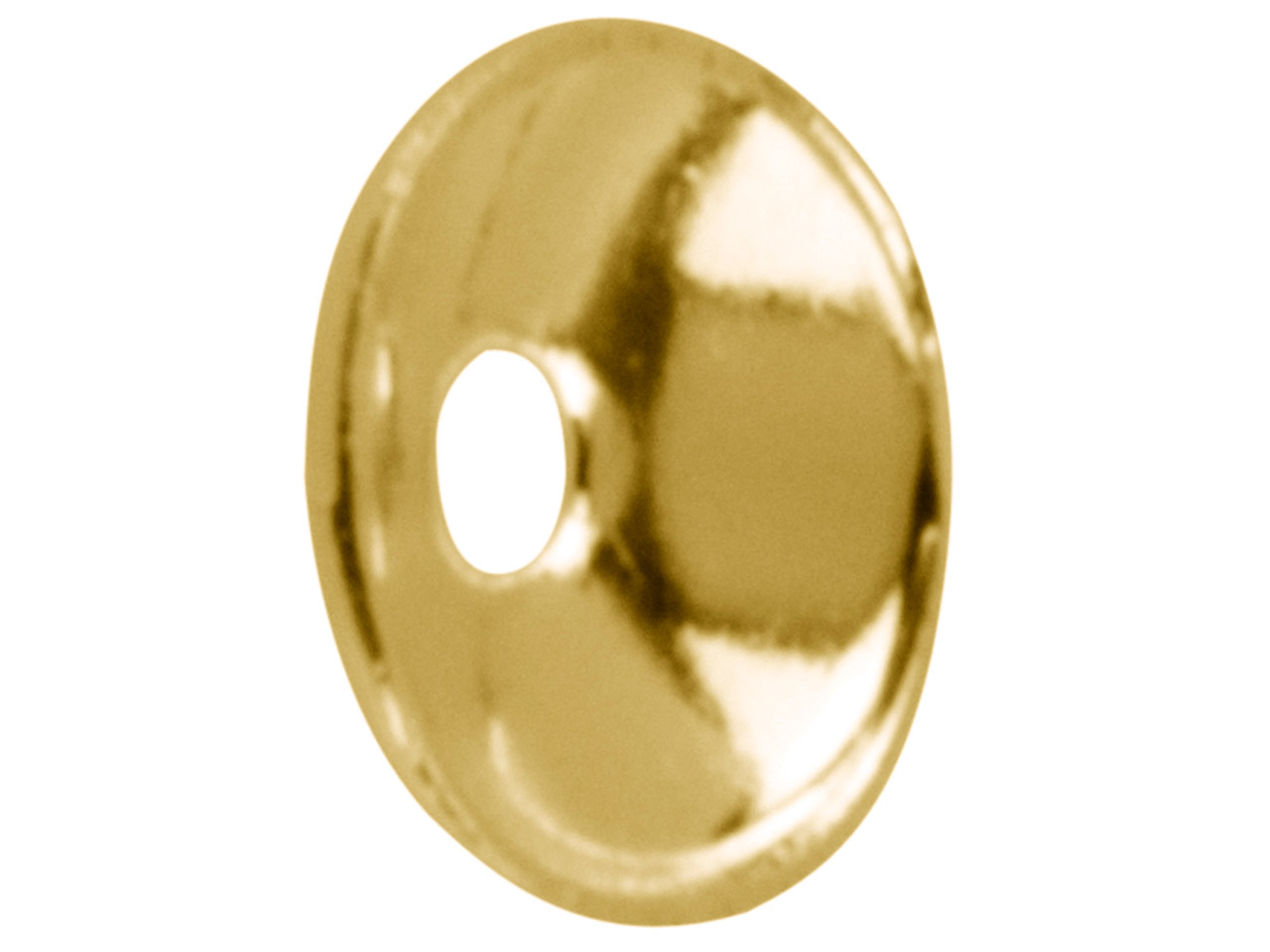 Gold Plated Plain Bead Cap 4mm     Pack of 25