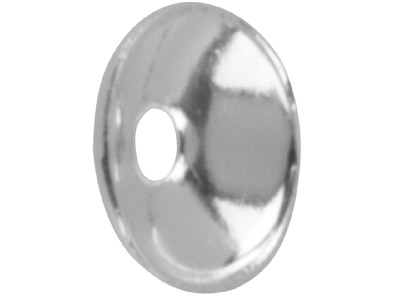Silver Plated Plain Bead Cap 4mm   Pack of 25