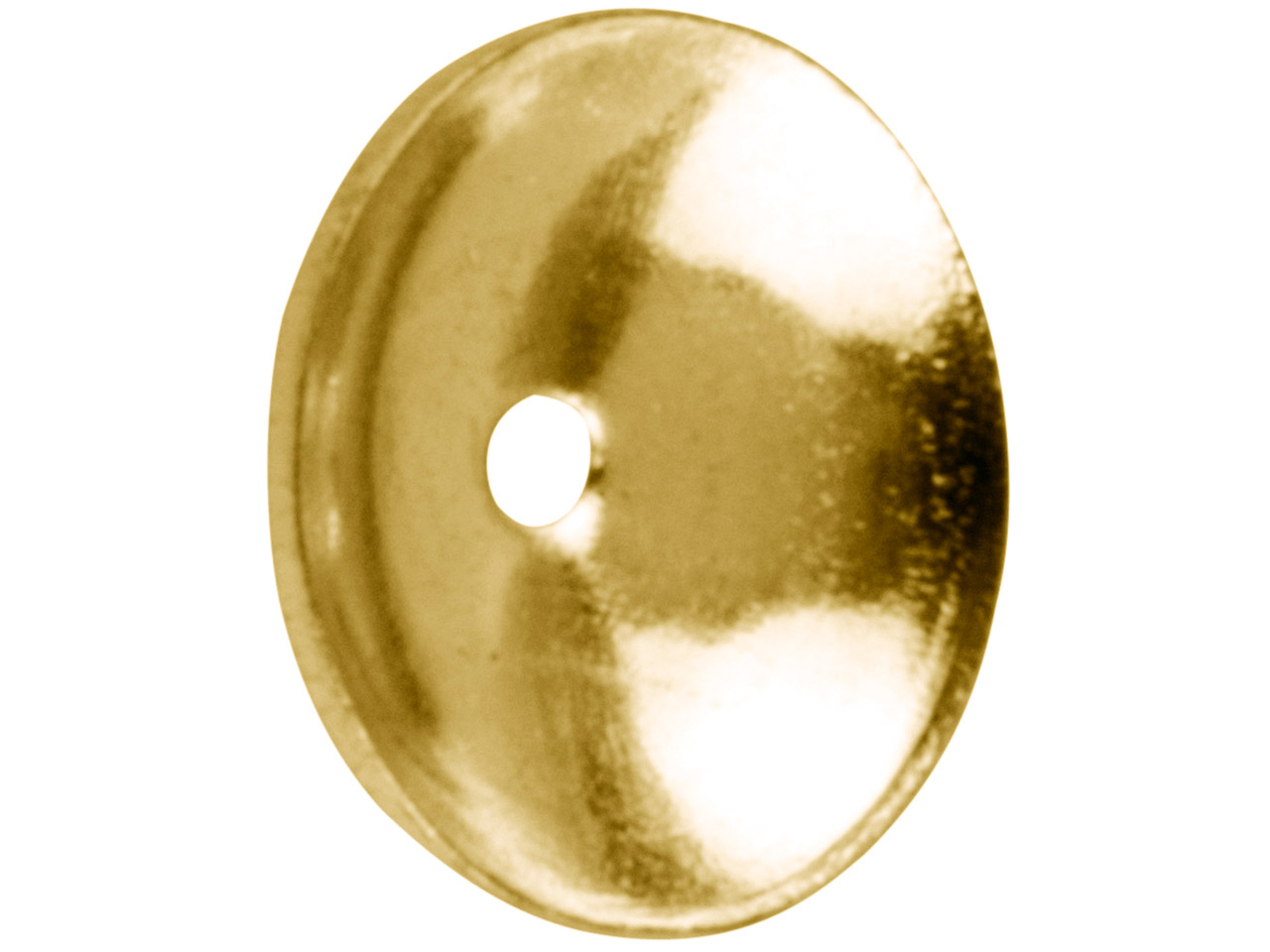 Gold Plated Plain Bead Cap 5mm     Pack of 25
