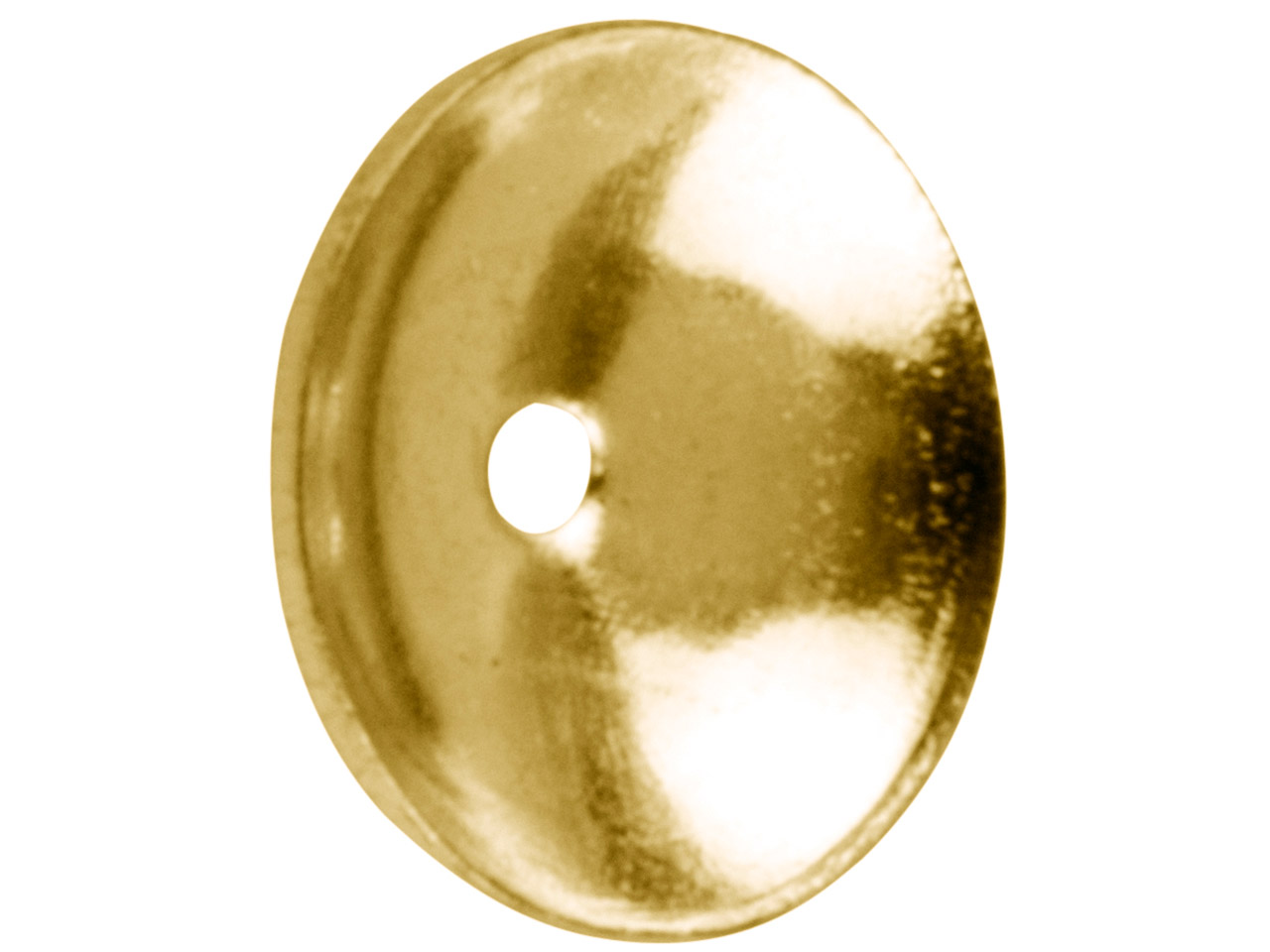 Gold Plated Plain Bead Cap 6mm     Pack of 25