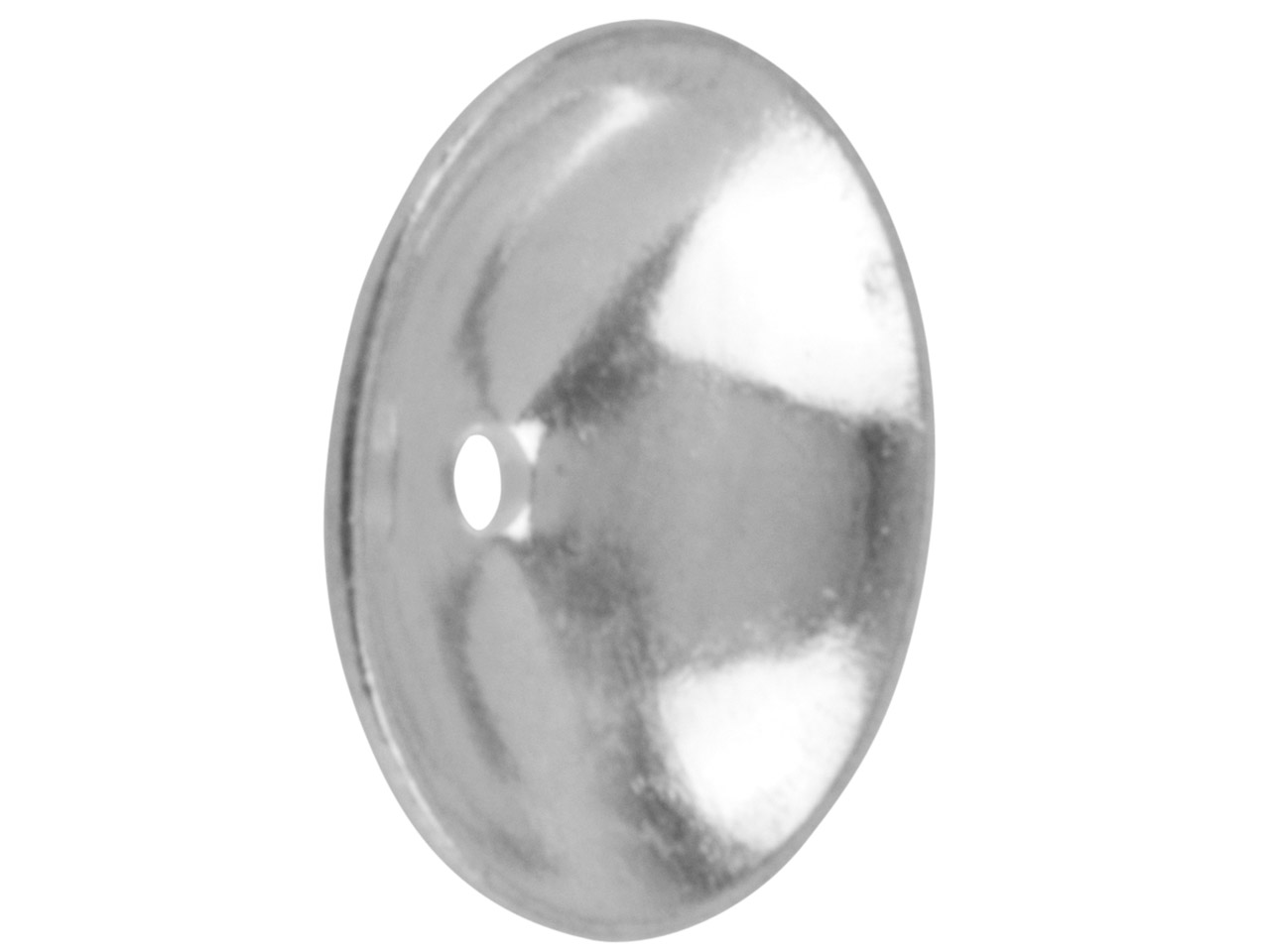 Silver Plated Plain Bead Cap 7mm   Pack of 25