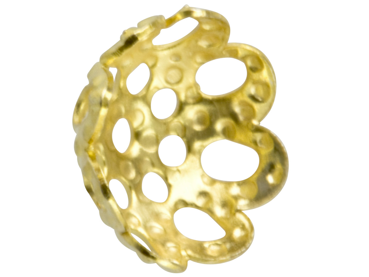 Gold Plated 6mm Filigree Bead Cap  Pack of 25