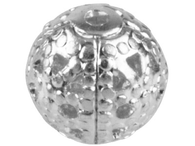 Pack of 10 6.0mm Round Filigree Beads Silver Plated