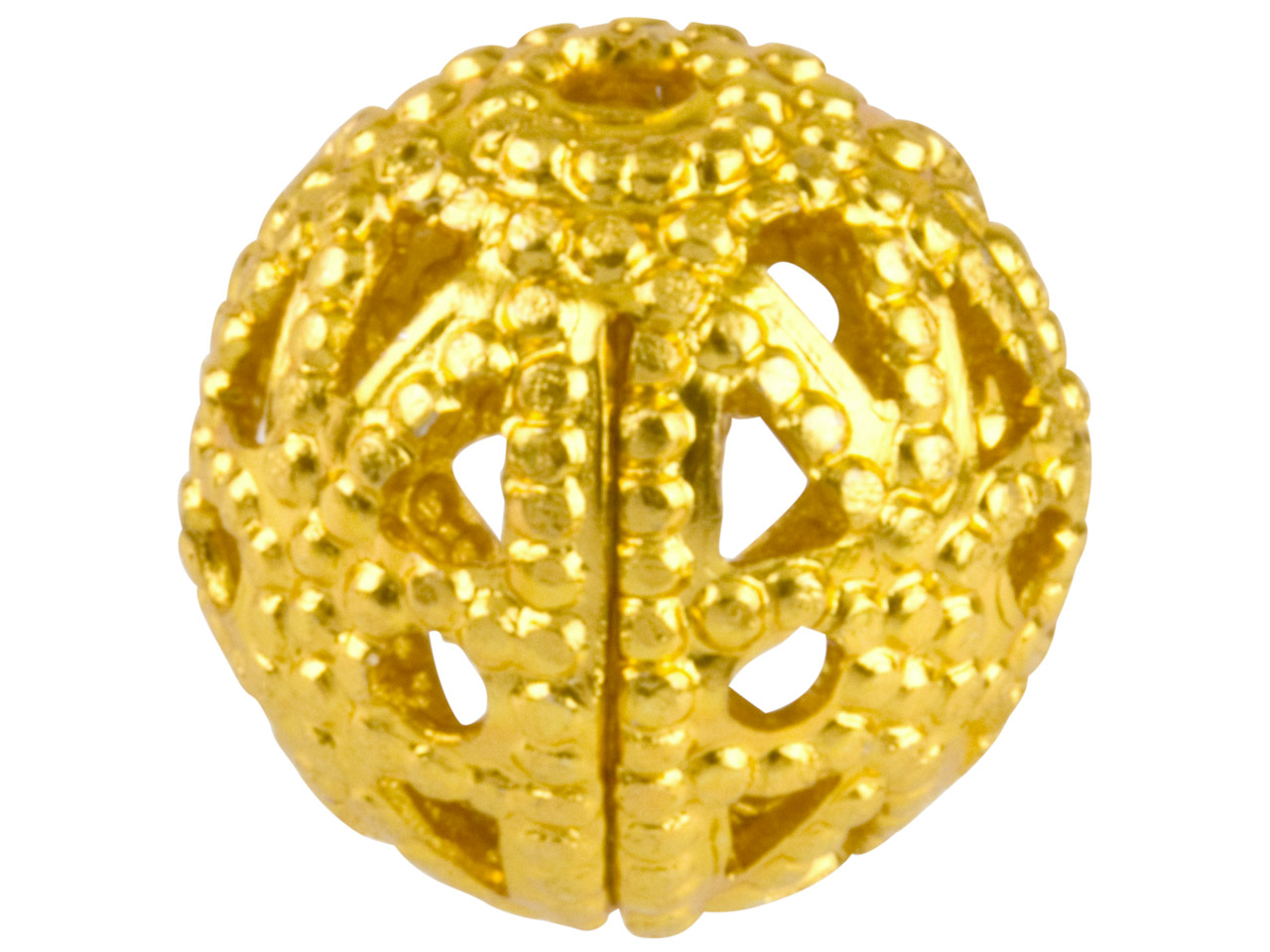 Gold Plated Filigree Beads 8mm     Round Pack of 10