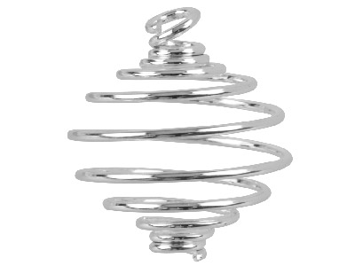 Silver Plated Bead Cages 22.5mm    Pack of 6
