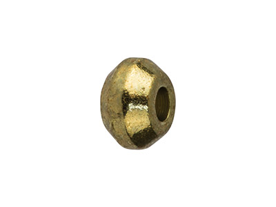 Gold Plated Turned Spacers 4x1.4mm Small, Pack of 25