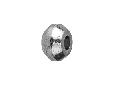 Pack of 25 4x1.4mm Small Turned Spacers Silver Plated