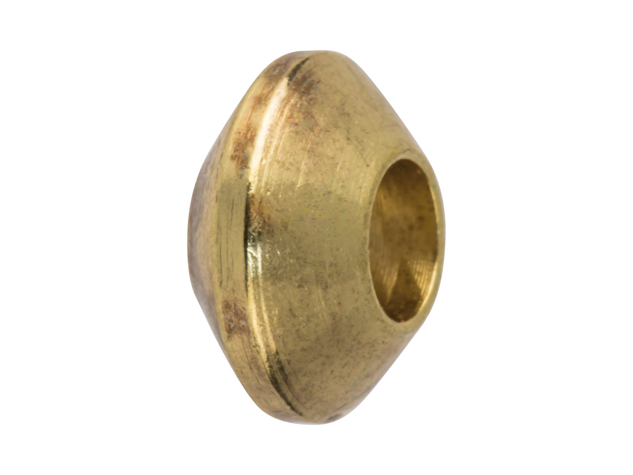 Gold Plated Turned Spacers 7x4mm   Large, Pack of 25