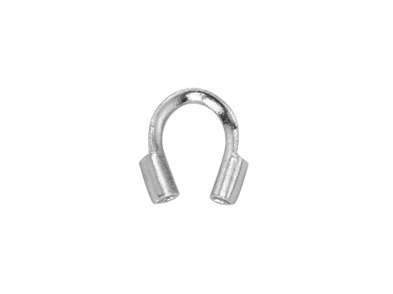 Beadalon Wire Guardians Silver     Plated, 0.56mm Hole X 4.57mm       Length, Pack of 20