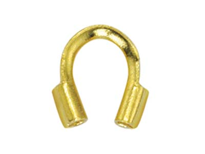 Beadalon Wire Protector Gold       Plated, 0.56mm Hole X 4.57mm       Length, Pack of 20