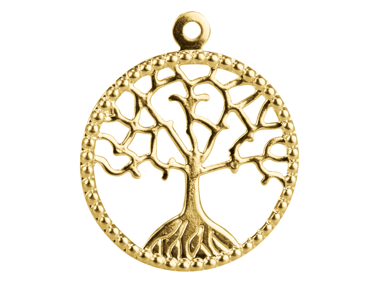 Gold Plated Pendant Tree Of Life   20mm Pack of 10