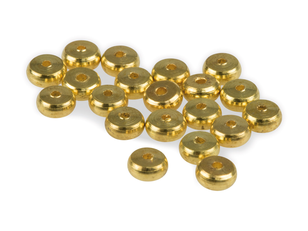 Gold Plated Rondelle Spacer Beads  2x4mm Pack of 20