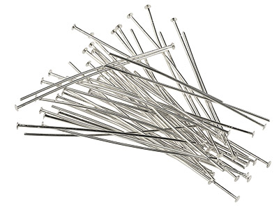 Silver-Plated-Head-Pins-50mm-------Pa...