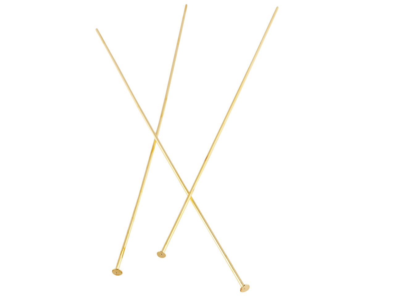 Base Metal Gold Finish Pin 75mm    Flat Headed Pack of 100, Half Hard