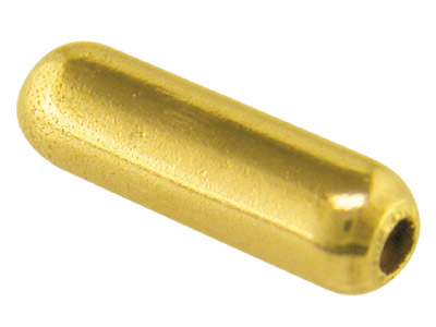 Base Metal Gilt Pin Protectors Push On Pack of 10