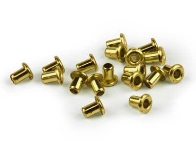 Beadsmith Ez-eyelets 116 X 332 Hollow Brass Pack of 100,