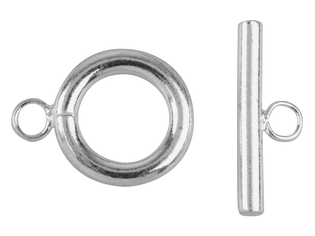 Surgical Steel Ring And Toggle     Clasps Pack of 4