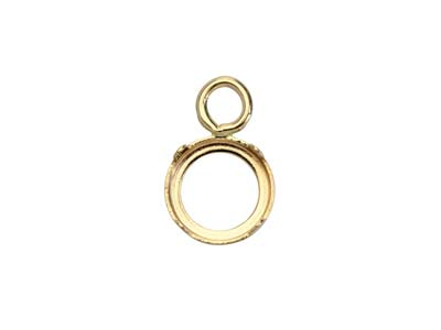 9ct Yellow Gold 4mm Round Bezel Cup