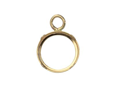 9ct Yellow Gold 6mm Round Bezel Cup