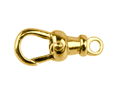 9ct-Yellow-Albert-Swivel-17mm-Fixed-T...