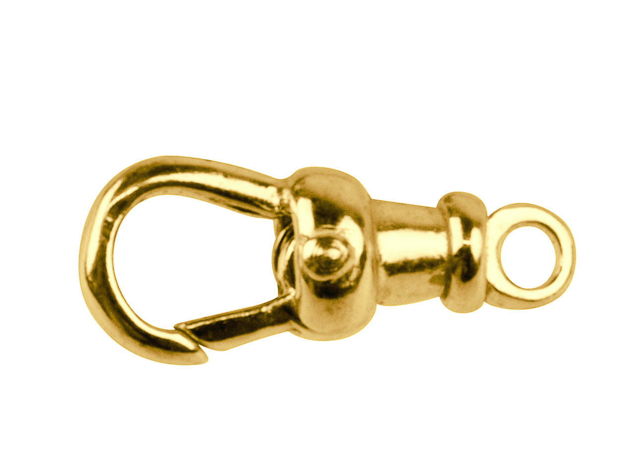 9ct Yellow Albert Swivel 17mm Fixed Top Closed Eyelet