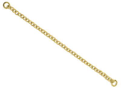 9ct Yellow Gold 1.0mm Trace Safety Chain For Bracelet 6.8cm2.7