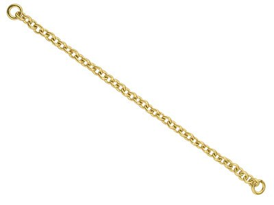 9ct Yellow Gold 2.0mm Heavy Trace  Safety Chain For Bracelet 5.2cm2