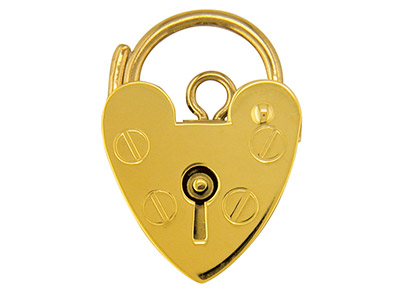 9ct Yellow Gold Padlock Plain 15mm Hallmarked