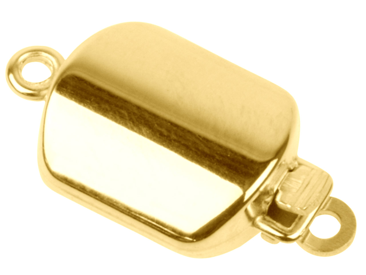 9ct Yellow Polished Square Clasp,  12mm