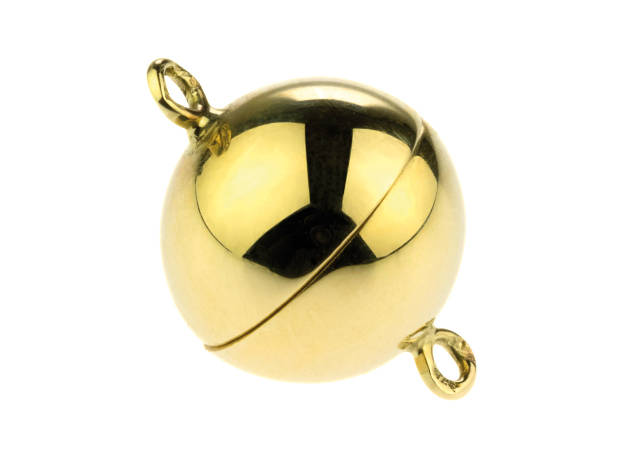 9ct Yellow Magnetic Ball Clasp 8mm