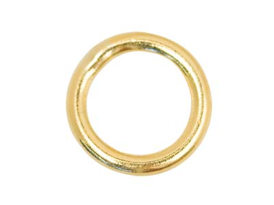 9ct Yellow Gold 4mm Closed Jrings, Pack of 4, 4mm Diameter X 0.6mm     Round Wire