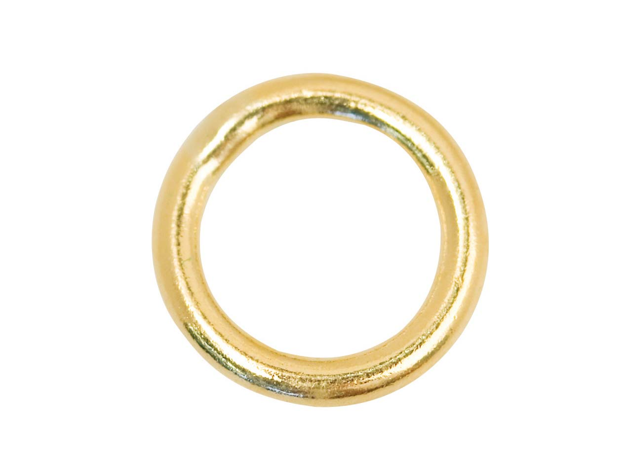 9ct Yellow 4mm Closed J/rings,     Pack of 4, 4mm Diameter X 0.6mm    Round Wire