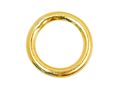 Pack Of 4** 9ct Yellow 8mm Closed Jump Rings 8mm Diam. X 1.2mm Round Wire