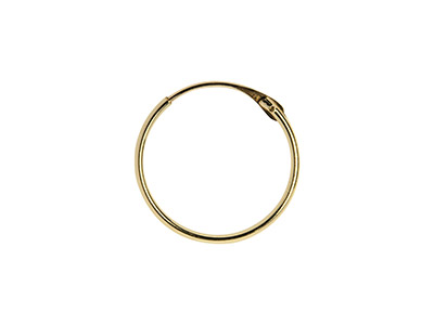 9ct Yellow Gold Creole Superlight  15mm Hoop