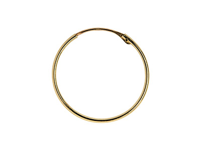 9ct Yellow Gold Creole Superlight  18mm Hoop