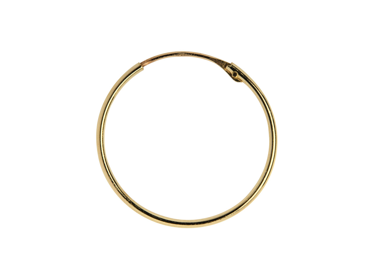 9ct Yellow Creole Hoop S/light 18mm Superlight Hoop