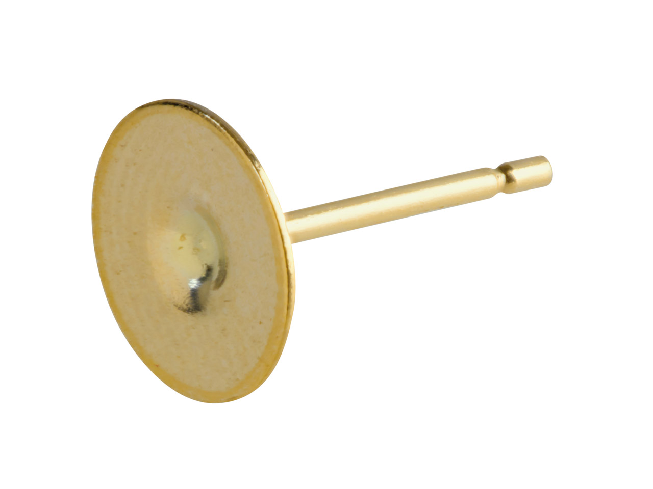 9ct Yellow Peg And Flat Disc 307,  7mm Disc