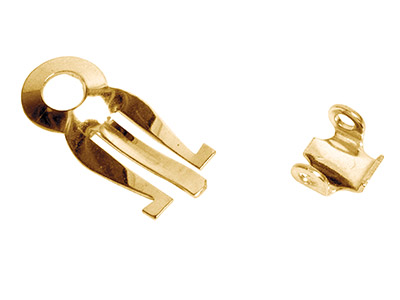 9ct Yellow Gold Earclip, Flat      Stamped Unassembled - Medium